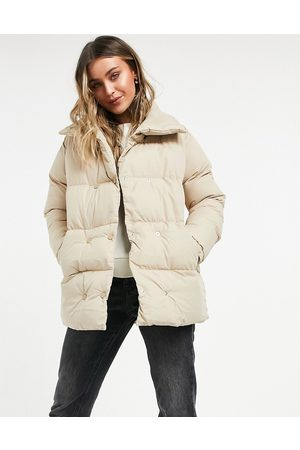 Threadbare Dorata padded coat-Stone