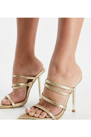 Simmi Wide Fit Simmi London Wide Fit Felicia strappy mules with heel in