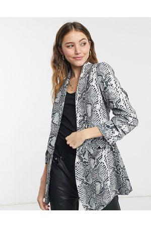 Liquorish Women Blazers - Blazer in zebra print