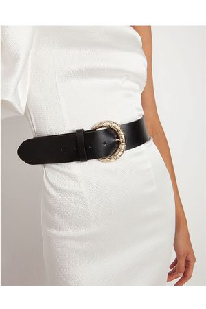 TOI&MOI Leather Belt With Ornated Buckle