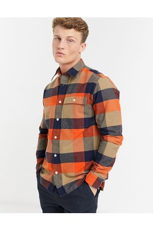 Selected Brushed overshirt in check