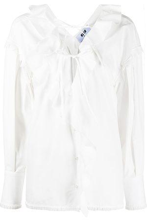 Msgm Ruffled cotton blouse
