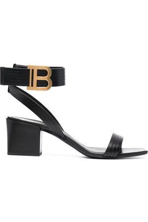 Balmain Women Sandals - Stella 55mm leather sandals