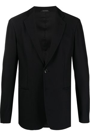 Armani Single-breasted textured blazer