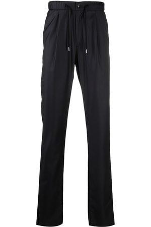 Armani Men Formal Pants - Fine knit drawstring waist trousers