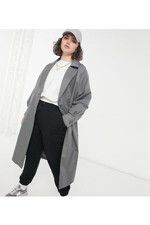 Threadbare Curve Louisa trench in -Grey