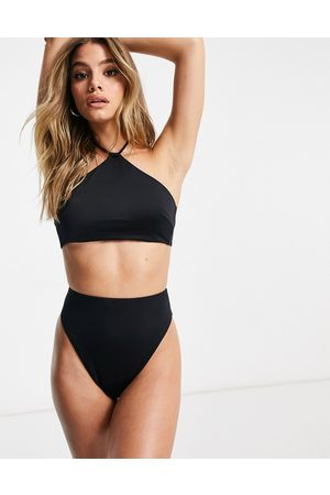 ASOS Recycled mix and match high neck tie back bikini top in