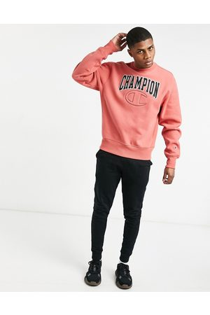 Champion Hoodies - Reverse weave quilted C embroidered logo sweatshirt in picante