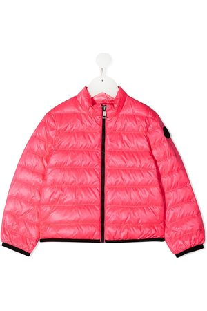 Moncler Girls Puffer Jackets - Logo-patch sleeve jacket
