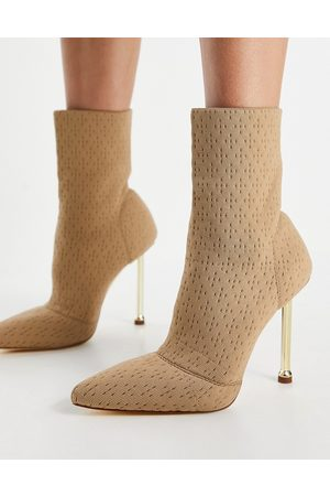 SIMMI Shoes Simmi London Shae sock boots with gold heel in