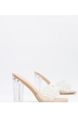 Simmi Wide Fit Simmi London Wide Fit Heidi embellished mules in