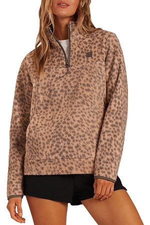 Billabong Women Sweatshirts - Boundry Printed Half Zip Sweater