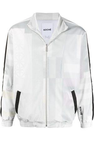 KOCHÉ Square print jacket - Grey