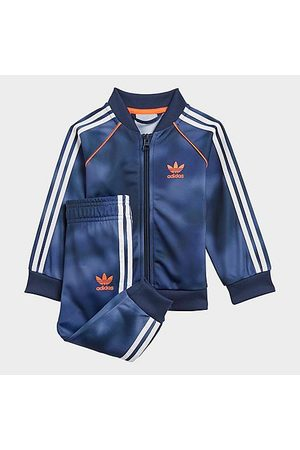 adidas Boys' Infant and Toddler Originals Allover Print Camo SST Track Suit in /Crew