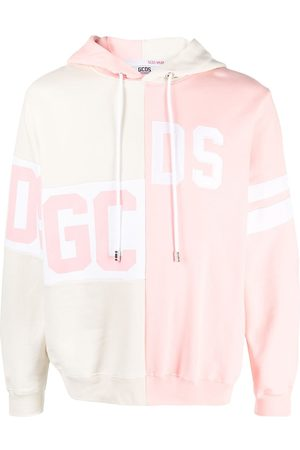 GCDS Logo patch work hoodie