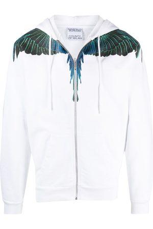MARCELO BURLON Wings zipped hoodie