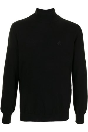 Msgm Logo-embroidered roll-neck jumper