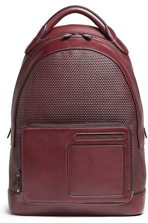 Ermenegildo Zegna Men Rucksacks - PELLETESSUTA™ panelled backpack