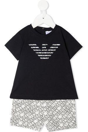 Emporio Armani Logo-print cotton tracksuit