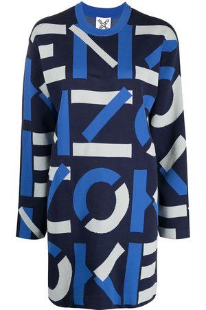 Kenzo Intarsia logo knitted dress