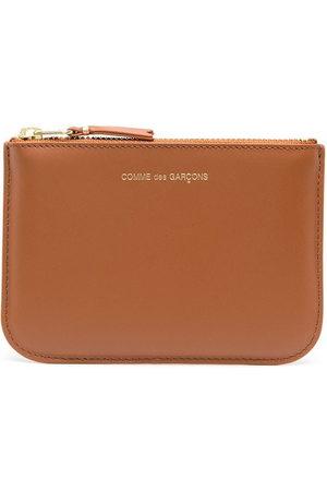 Comme des Garçons Logo zipped wallet
