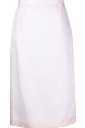 Emilio Pucci Women Pencil Skirts - Contrast-trim silk skirt