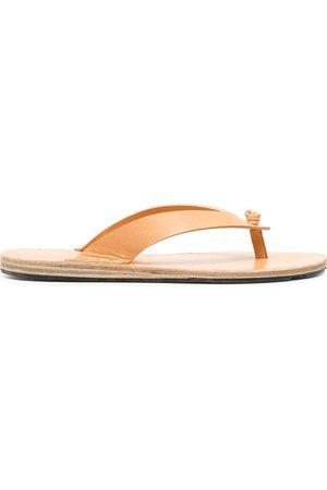 Jil Sander Women Flip Flops - Studded knot-detail flip flops - Neutrals