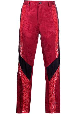 KOCHÉ Women Straight Leg Pants - Panelled straight-leg trousers