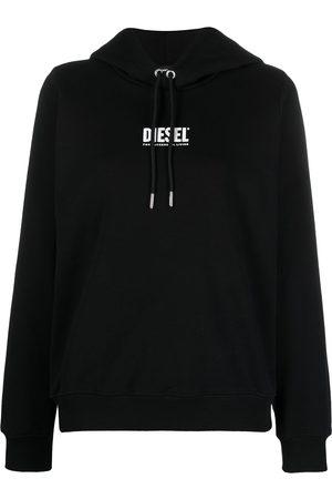Diesel 3D logo-print cotton hoodie