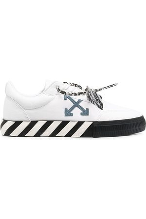 OFF-WHITE Logo-patch lace-up trainers