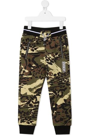 Givenchy Logo camouflage tracksuit bottoms