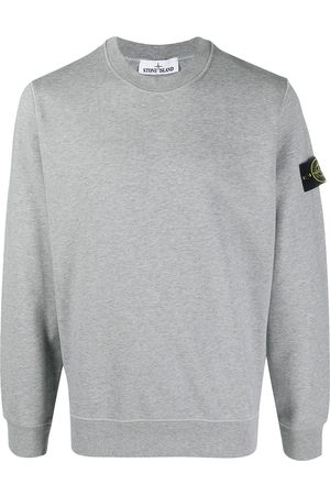 Stone Island Logo patch crew neck jumper - Grey