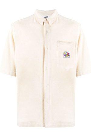 GCDS Logo patch terry polo shirt