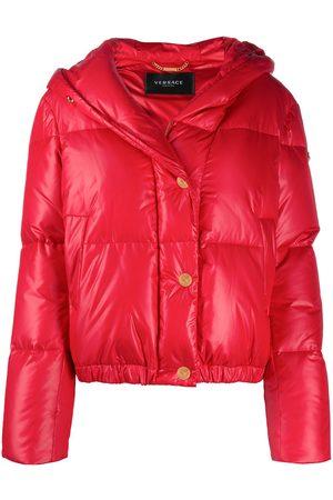 VERSACE Logo print puffer jacket