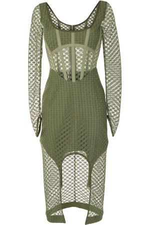 DION LEE Sheer asymmetric dress
