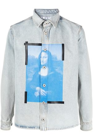 OFF-WHITE Monalisa print denim shirt