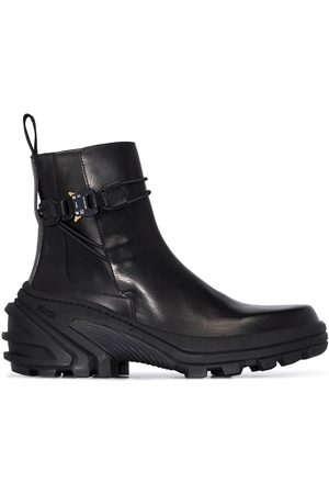 1017 ALYX 9SM Men Ankle Boots - Buckle leather ankle boots