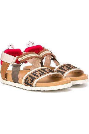 Fendi FF strappy sandals