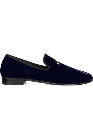 Giuseppe Zanotti Men Loafers - G-lewis velvet loafers