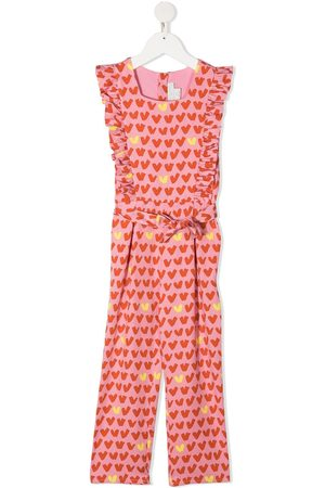 Stella McCartney Ruffled heart-stripe jumpsuit