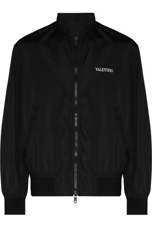 VALENTINO Logo-print zip-up bomber jacket