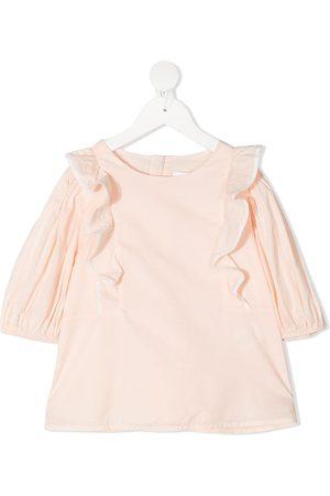 Chloé Girls Long Sleeve - Ruffled long-sleeved top