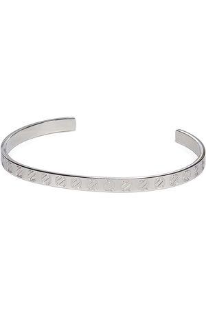 Ermenegildo Zegna Men Bracelets - Engraved logo cuff bracelet
