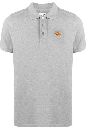Kenzo Tiger patch polo shirt - Grey