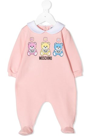 Moschino Teddy cotton babygrow