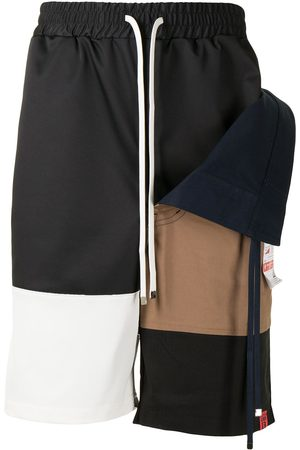 Maison Mihara Yasuhiro Colour-block layered deck shorts