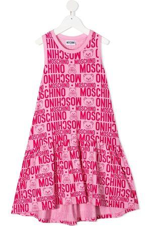 Moschino Logo-print midi dress