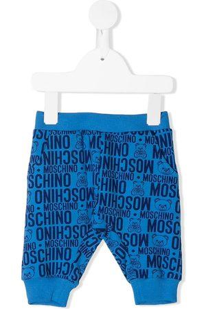 Moschino Logo print cotton trousers