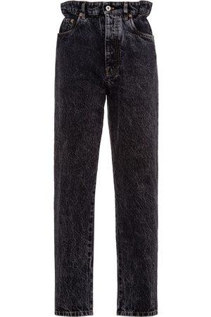 Miu Miu High-rise paperbag-waist straight-leg jeans