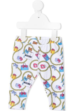 Moschino Gift-print cotton leggings